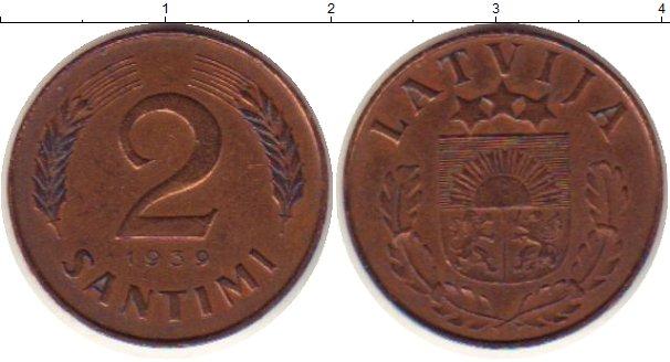 Монета 1 сантим 1939 год латвия аукционъ