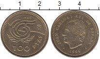 Изображение Монеты Испания 100 песет 1999 Латунь UNC