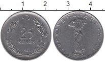 Изображение Монеты Турция 25 куруш 1968 Сталь XF