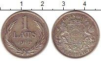 Изображение Монеты Латвия 1 лат 1924 Серебро XF-