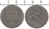 Изображение Монеты Чили 1 песо 1933 Медно-никель XF
