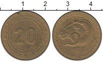 Изображение Монеты Алжир 20 сентим 1975 Латунь XF-