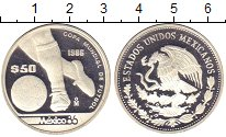 Изображение Монеты Мексика 50 песо 1986 Серебро Proof-