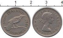 Изображение Монеты Новая Зеландия 6 пенсов 1957 Медно-никель XF