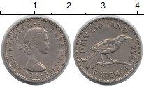 Изображение Монеты Новая Зеландия 6 пенсов 1958 Медно-никель XF