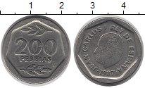 Изображение Монеты Испания 200 песет 1987 Медно-никель XF Хуан Карлос I