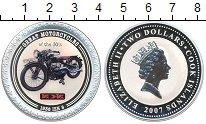 Изображение Монеты Острова Кука 2 доллара 2007 Серебро Proof Мотоцикл : Иж-8  193