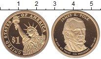 Изображение Монеты США 1 доллар 2009 Латунь Proof 11 - ый  Президент