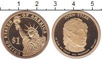 Изображение Монеты США 1 доллар 2009 Латунь Proof 10 - ый  Президент