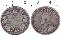 Изображение Монеты Канада 25 центов 1919 Серебро VF