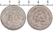 Изображение Монеты Мексика 50 сентаво 1943 Серебро XF