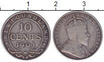 Изображение Монеты Ньюфаундленд 10 центов 1903 Серебро VF