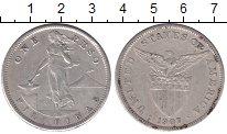 Изображение Монеты Филиппины 1 песо 1907 Серебро XF-
