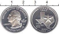 Изображение Монеты США 1/4 доллара 2004 Серебро Proof Техас   S