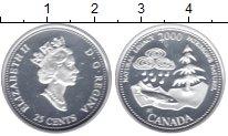 Изображение Монеты Канада 25 центов 2000 Серебро Proof Природное наследие