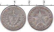 Изображение Монеты Куба 10 сентаво 1948 Серебро XF