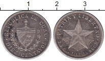 Изображение Монеты Куба 10 сентаво 1949 Серебро XF