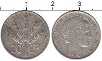 Изображение Монеты Уругвай 20 сентесимо 1942 Серебро XF-