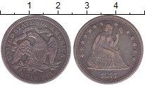 Изображение Монеты США 1/4 доллара 1877 Серебро XF