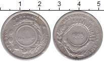 Изображение Монеты Коста-Рика 50 сентим 1923 Серебро XF Надчеканка