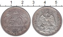 Изображение Монеты Мексика 50 сентаво 1921 Серебро XF