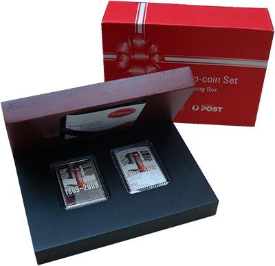 Изображение Подарочные наборы Австралия 200 лет Почтовой службе Австралии 2009 Серебро Proof- Монета номиналом 55