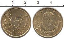 Изображение Монеты Ватикан 50 евроцентов 2010 Латунь XF Папа Римский