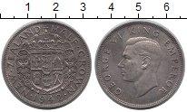 Изображение Монеты Новая Зеландия 1/2 кроны 1942 Серебро XF