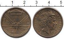 Изображение Монеты Австралия 1 доллар 2007 Латунь XF Елизавета II.  75 -
