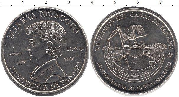 Картинка Монеты Панама 1 бальбоа Медно-никель 2004