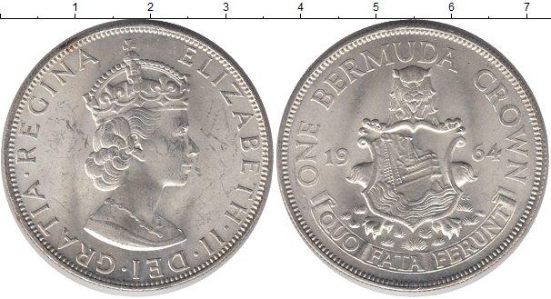 Картинка Монеты Бермудские острова 1 крона Серебро 1964