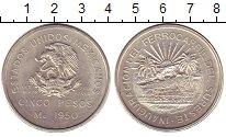 Изображение Монеты Мексика 5 песо 1950 Серебро XF
