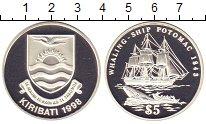 Изображение Монеты Кирибати 5 долларов 1998 Серебро Proof Парусник
