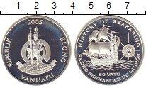 Изображение Монеты Вануату 50 вату 2005 Серебро Proof
