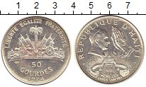 Изображение Монеты Гаити 50 гурдес 1974 Серебро XF Папа Римский