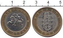 Изображение Монеты Литва 2 лит 2013 Биметалл XF Верпсте