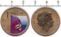 Изображение Монеты Австралия 1 доллар 2007 Латунь UNC- Елизавета II. Рыбка