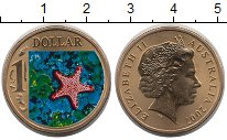 Изображение Монеты Австралия 1 доллар 2007 Латунь UNC- Елизавета II. Морска