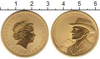 Изображение Монеты Австралия 1 доллар 2014 Латунь UNC Елизавета II.  Бандж