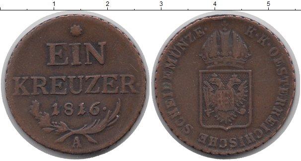 Картинка Монеты Австрия 1 крейцер Медь 1816