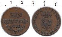 Изображение Монеты Австрия 1 крейцер 1816 Медь XF А