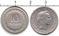 Изображение Монеты Колумбия 10 сентаво 1946 Серебро XF