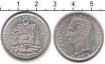 Изображение Монеты Венесуэла 2 боливара 1960 Серебро UNC Боливар - Освободите