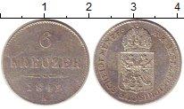 Изображение Монеты Австрия 6 крейцеров 1849 Серебро XF А