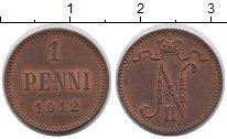 Изображение Монеты 1894 – 1917 Николай II 1 пенни 1912 Медь XF