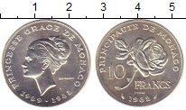 Изображение Монеты Монако 10 франков 1982 Серебро UNC