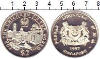 Изображение Монеты Сингапур 2 доллара 1997 Серебро Proof
