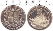 Изображение Монеты Андорра 50 динерс 1960 Серебро Proof