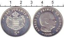 Изображение Монеты Монако 5 евро 2008 Серебро UNC