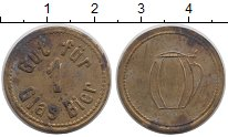 Изображение Монеты Германия жетон 0 Латунь XF-